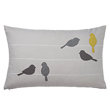 Buy John Lewis Birds on a Wire Cushion Online at johnlewis.com