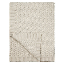Buy John Lewis Knitted Waves Throw Online at johnlewis.com