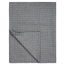 Buy John Lewis Flat Herringbone Throw, Steel Online at johnlewis.com
