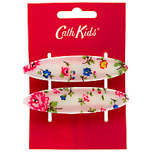 Buy Cath Kidston Girls' Bramley Sprig Hair Barettes, Pack of 2, Cream/Pink Online at johnlewis.com