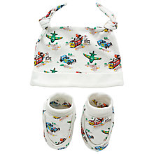 Buy Cath Kidston Baby Transport Hat & Bootie Set, Off White Online at johnlewis.com