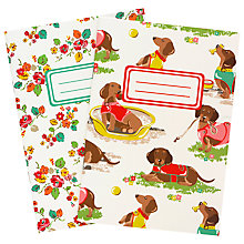 Buy Cath Kidston Sausage Dogs Notepad, Pack of 2 Online at johnlewis.com