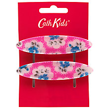 Buy Cath Kidston Girls' Provence Rose Hair Barettes, Pack of 2, Pink/Multi Online at johnlewis.com
