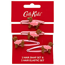 Buy Cath Kidston Girls' Dogs Hair Accessories Set, Pink Online at johnlewis.com
