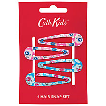 Buy Cath Kidston Girls' Provence Rose Hair Snaps, Pack of 2, Pink/Blue Online at johnlewis.com