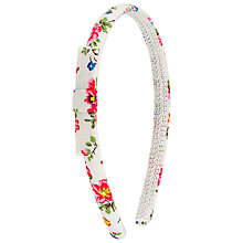 Buy Cath Kidston Bramley Sprig Hair Headband, White/Multi Online at johnlewis.com