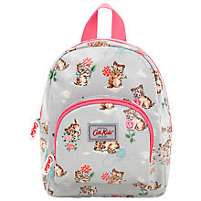 Buy Cath Kidston Children's Mini Kittens Rucksack, Grey/Pink Online at johnlewis.com