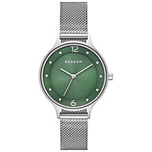 Buy Skagen Anita Women's Stainless Steel Mesh Strap Watch Online at johnlewis.com