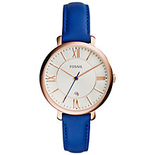 Buy Fossil Jacqueline Women's Stainless Steel Leather Strap Watch Online at johnlewis.com