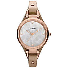 Buy Fossil ES3151 Women's Georgia Stainless Steel Watch, Rose Gold/Sand Online at johnlewis.com