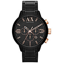 Buy Armani Exchange AX1350 Men's Atlantic Chronograph Bracelet Watch, Black Online at johnlewis.com