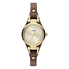 Buy Fossil ES3264 Georgia Women's Leather Strap Watch, Champagne Online at johnlewis.com