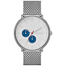 Buy Skagen SKW6187 Hald Men's Stainless Steel Mesh Strap Watch, Silver Online at johnlewis.com