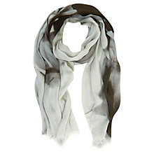 Buy Mint Velvet Jillian Print Scarf, Black / Lichen Online at johnlewis.com