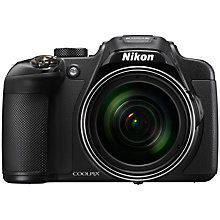 "Buy Nikon Coolpix P610 Compact Digital Camera, 16MP, HD 1080p, 60x Optical Zoom, Wi-Fi, NFC, 3"" Vari-angle Display, Black with Memory Card Online at johnlewis.com"