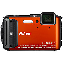 "Buy Nikon COOLPIX AW130 Waterproof, Freezeproof, Shockproof Digital Camera, 16MP, Full HD 1080p, NFC, Built-In Wi-Fi, 3"" OLED Screen Online at johnlewis.com"