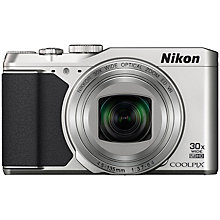 "Buy Nikon Coolpix S9900 Smart Compact Digital Camera, 16MP, Full HD 1080p, NFC, Built-In Wi-Fi, GPS, 3"" LCD Vari-angle Screen, Silver with Memory Card Online at johnlewis.com"