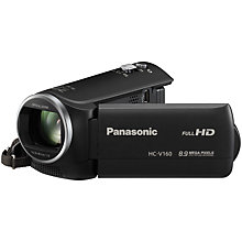 "Buy Panasonic HC-V160 Camcorder, HD 1080p, 8.9MP, 38x Optical Zoom, 77x Intelligent Zoom, 2.7"" Wide LCD Monitor Online at johnlewis.com"
