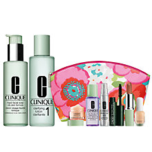 Buy Clinique Liquid Facial Soap and Clarifying Lotion 1 with FREE Clinique Bonus Time Makeup Bag Gift Online at johnlewis.com