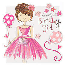Buy Rachel Ellen Beautiful Birthday Girl Greeting Card Online at johnlewis.com