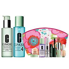 Buy Clinique Liquid Facial Soap and Clarifying Lotion 4 with FREE Clinique Bonus Time Makeup Bag Gift Online at johnlewis.com