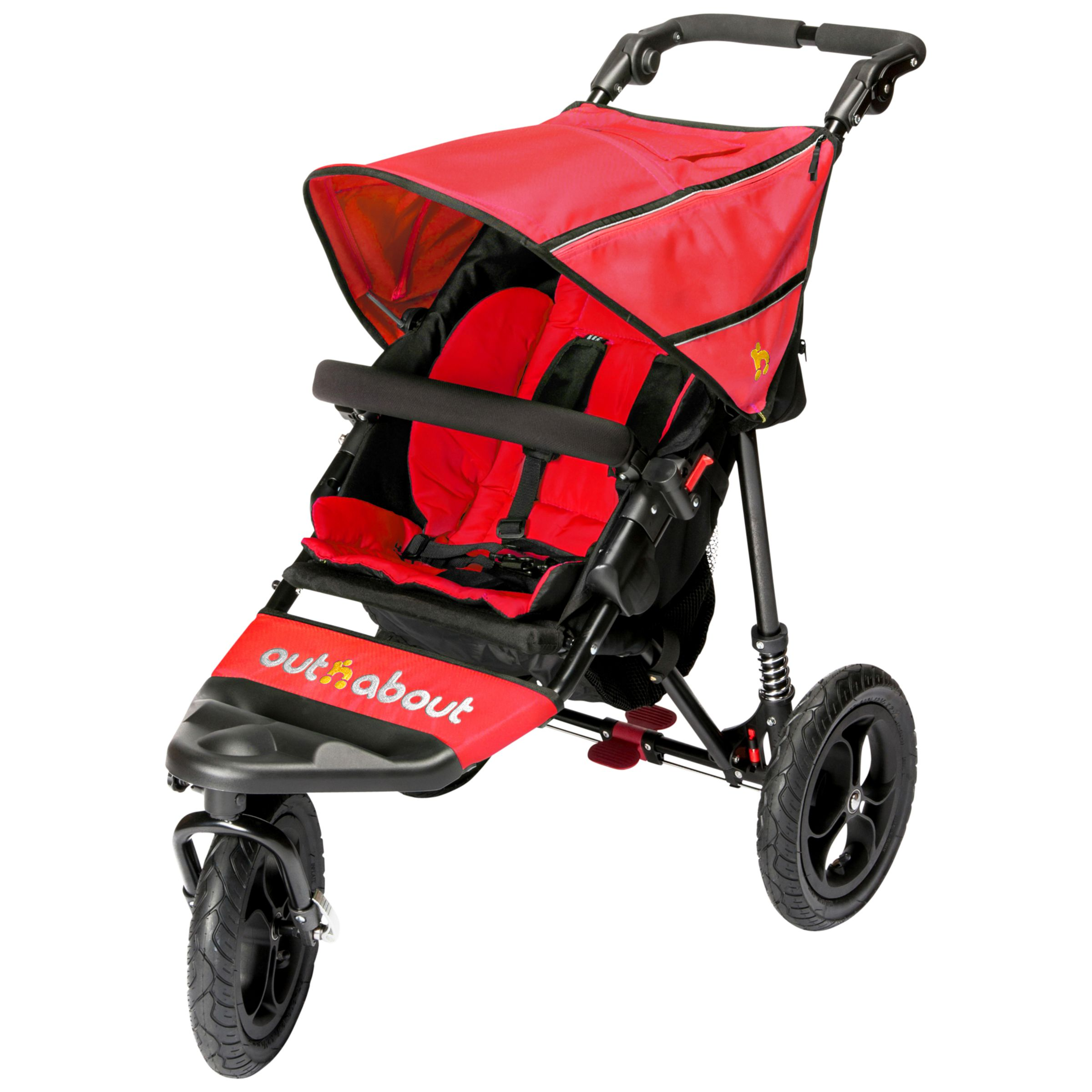 Out 'N' About Out 'N' About Nipper 360 Single V4 Pushchair, Red