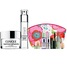 Buy Clinique Custom Smart Serum and Repairwear Anti-Gravity Eye Cream with FREE Clinique Bonus Time Makeup Bag Gift Online at johnlewis.com