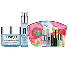 Buy Clinique Turnaround Overnight Radiance Moisturiser and Turnaround Concentrate Extra Radiance Renewer with FREE Clinique Bonus Time Makeup Bag Gift Online at johnlewis.com