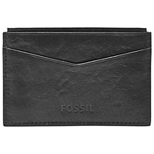 Buy Fossil Ingram Leather Card Case, Black Online at johnlewis.com