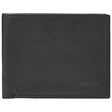 Buy Fossil Ingram Leather Bifold Wallet with ID Window, Black Online at johnlewis.com