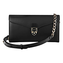 Buy Aspinal of London Manhattan Mini Leather Clutch Bag, Black Online at johnlewis.com