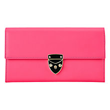 Buy Aspinal of London Shield Lock Leather Purse, Pink Online at johnlewis.com