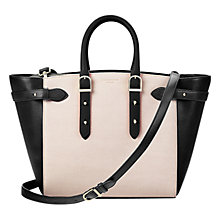 Buy Aspinal of London Marylebone Medium Colour Block Tote Bag, Black Online at johnlewis.com