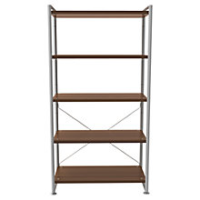 Buy Bisley Stage 80cm Shelf Unit, Walnut Online at johnlewis.com