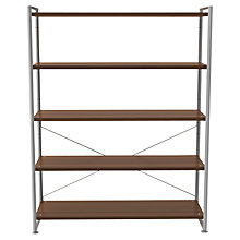 Buy Bisley Stage 120cm Shelf Unit, Walnut Online at johnlewis.com