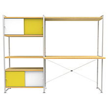 Buy Bisley Stage Desk Bay and 80cm Storage, White / Canary Online at johnlewis.com
