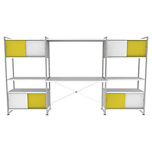 Buy Bisley Stage Workstation, White / Canary Online at johnlewis.com