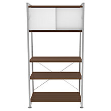 Buy Bisley Stage 80cm Shelf Unit and Cupboard, Walnut Online at johnlewis.com