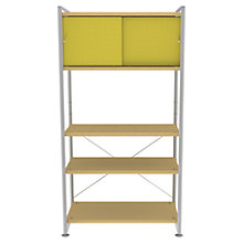 Buy Bisley Stage 80cm Shelf Unit and Cupboard, Canary Online at johnlewis.com