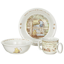 Buy Winnie The Pooh Breakfast Set Online at johnlewis.com