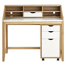 Buy John Lewis Loft Desk and Filing Cabinet, White/Ash Online at johnlewis.com