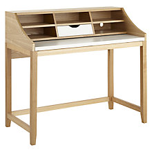 Buy John Lewis Loft Writing Desk, White/Ash Online at johnlewis.com