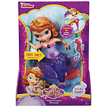 Buy Disney Princess Sofia The First Magical Lights Mermaid Bath Time Toy Online at johnlewis.com
