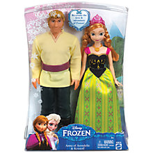 Buy Disney Frozen Anna & Kristoff Figures, Pack of 2 Online at johnlewis.com