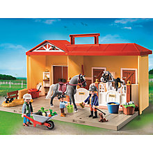 Buy Playmobil Country Horse Stable Take Along Play Set Online at johnlewis.com