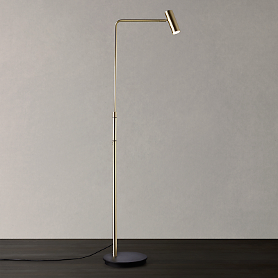 John Lewis Alpha LED Floor Lamp, Satin Brass