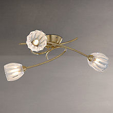Buy John Lewis Brooke Fluted Swirling 3 Arm Ceiling Light, Satin Brass Online at johnlewis.com