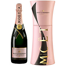 Buy Moët & Chandon Rosé NV Champagne in Unfurl Tie Gift Box, 70cl Online at johnlewis.com