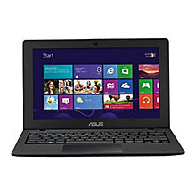 "Buy Asus X200MA Laptop, Intel Celeron, 2GB RAM, 500GB, 11.6"" Touch Screen, Black Online at johnlewis.com"