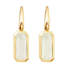 Buy Astley Clarke 18ct Gold Vermeil Sterling Silver Moonstone Prismic Drop Earrings, White Online at johnlewis.com